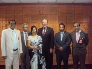 With Ambassador of USA