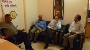With Danish Ambassador at CCB Office