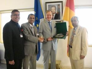 With German Ambassador